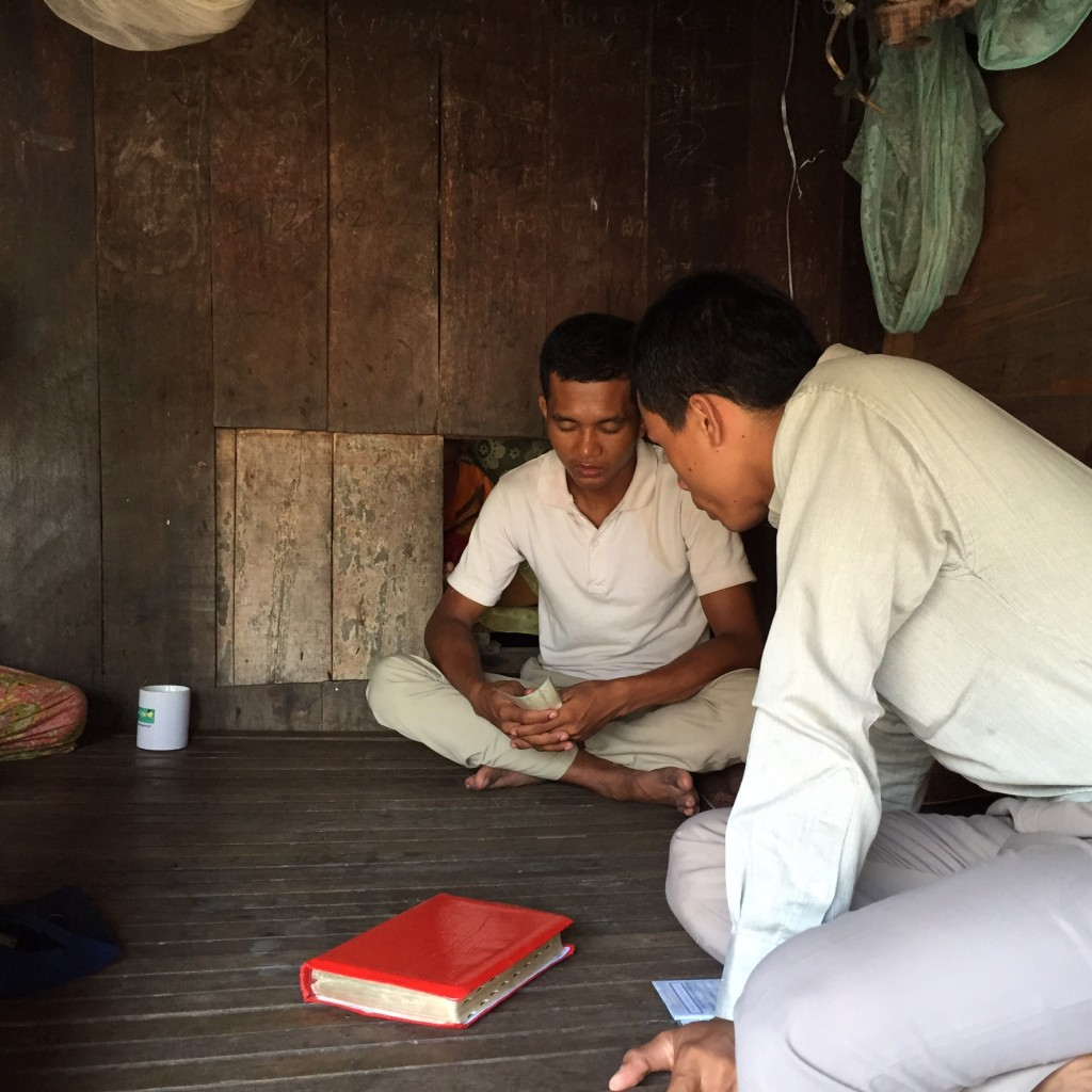 Witnessing in a Cambodian home